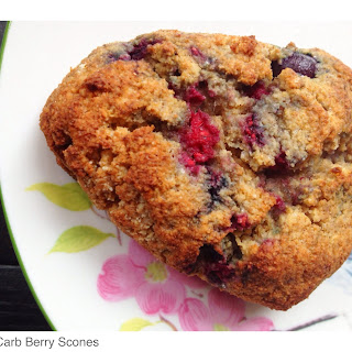 Low Carb Berry Scones