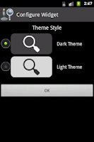 Screenshot of Simple Search Widgets