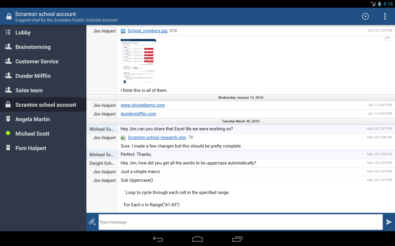 HipChat Beta - screenshot