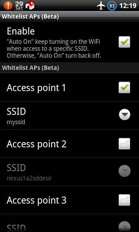 Auto WiFi Toggle - screenshot