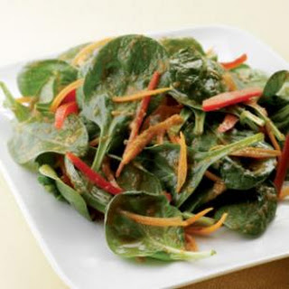 Spinach Salad with Japanese Ginger Dressing.