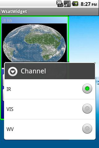 Weather satellite widget - screenshot