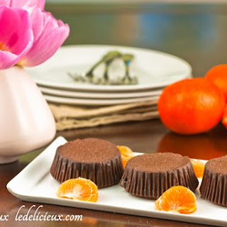 Low Fat Mini Chocolate Mandarin Cheesecakes