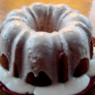 Carrot Bundt Cake with Cream Cheese Glaze.
