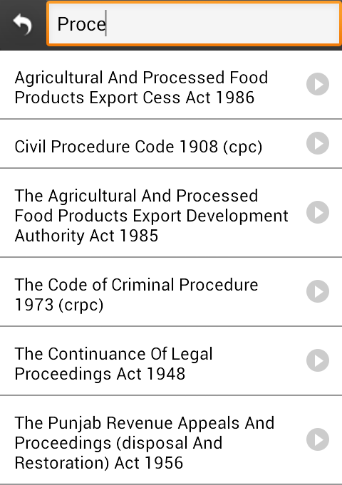 Indian Bare Acts (Law Books)- screenshot