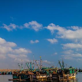 kasimedu by Shaik Mohaideen - Landscapes Travel ( kasimedu, fishing, boat, chennai )