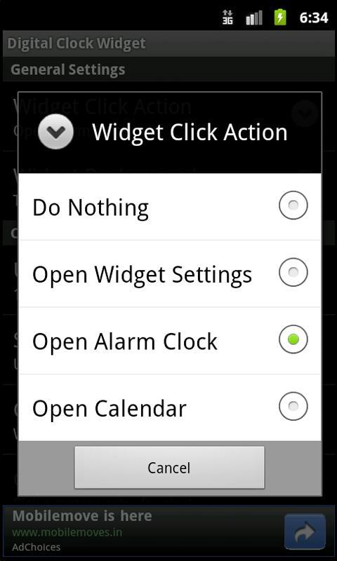 Digital Clock Widget- screenshot