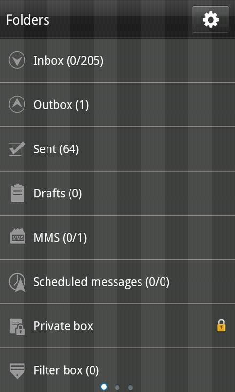 GO SMS Pro Black Texture Theme - screenshot