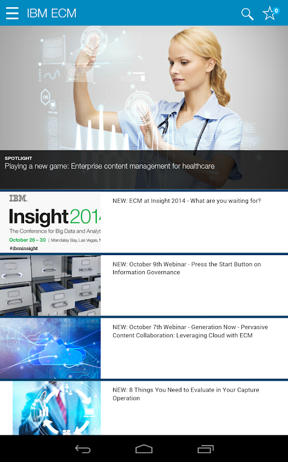 IBM Content Zone- screenshot