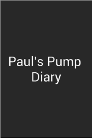 Blood Glucose Pump Diary - screenshot