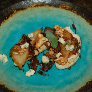 Sage, Pear, Walnut, Honey, Caramelized Shallot & Blue Crostini