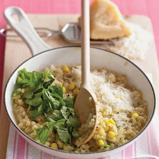Barley Risotto with Corn and Basil Recipe