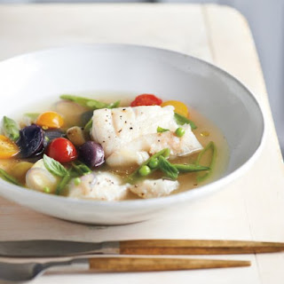 Poached Cod in Tomato Broth
