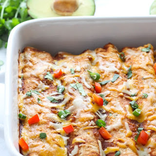 Sweet Potato Black Bean & Spinach Enchiladas