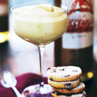 Moscato Zabaglione with Cornmeal Cookies