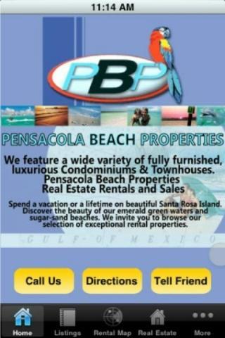 Pensacola Beach Properties- screenshot