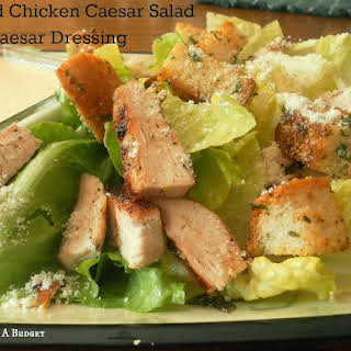 Grilled Chicken Caesar Salad with Caesar Dressing.