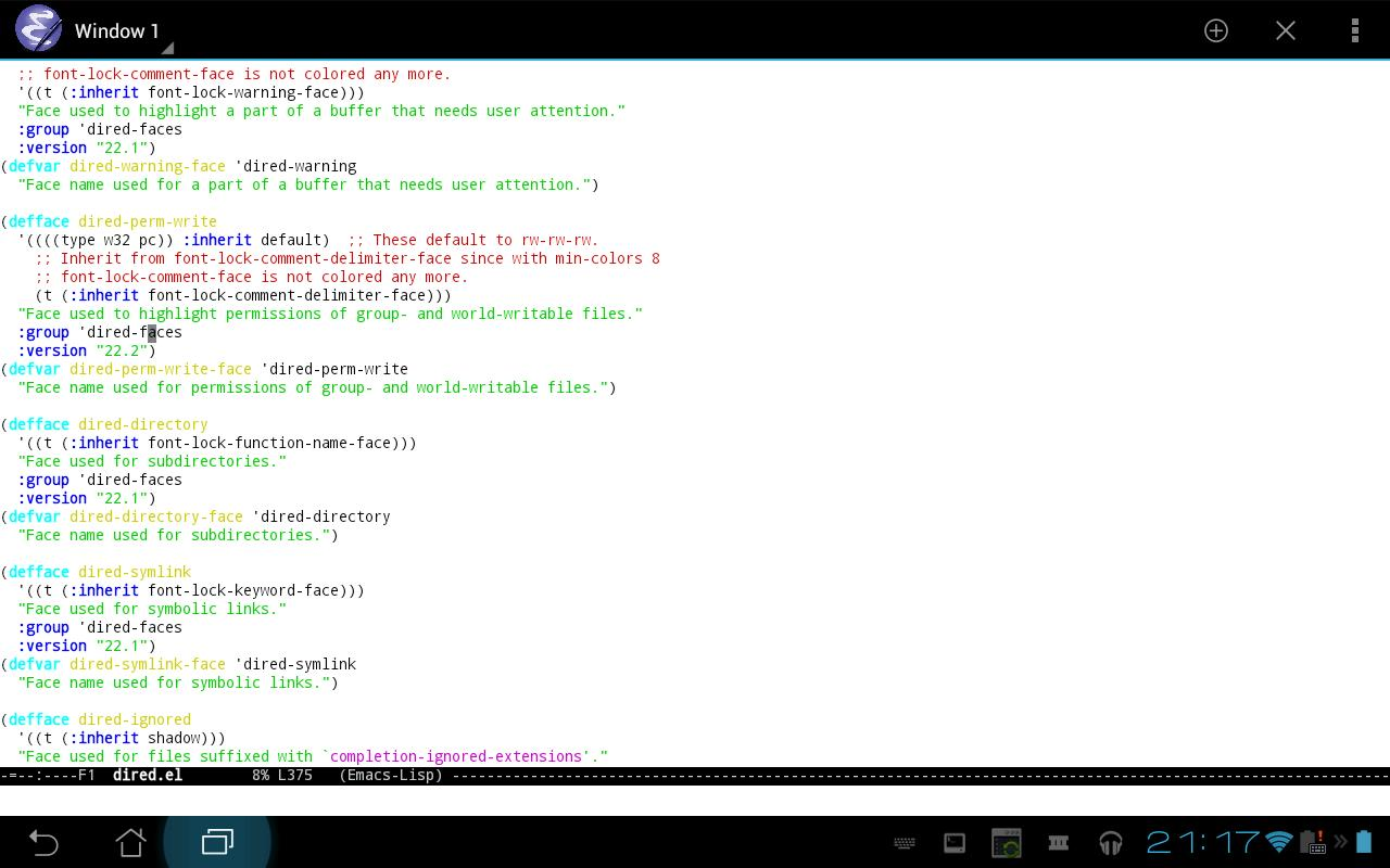 Emacs - screenshot