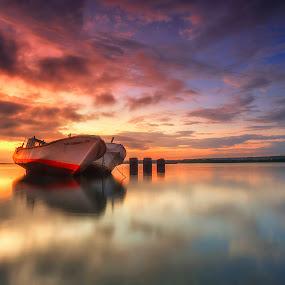 The Brothers by Bayu Adnyana - Transportation Boats ( bali, tuban, transport, boats, transportation, boat, golden hour, sunset, sunrise,  )