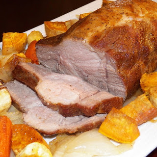 Easy Pork Roast with Roasted Vegetables.