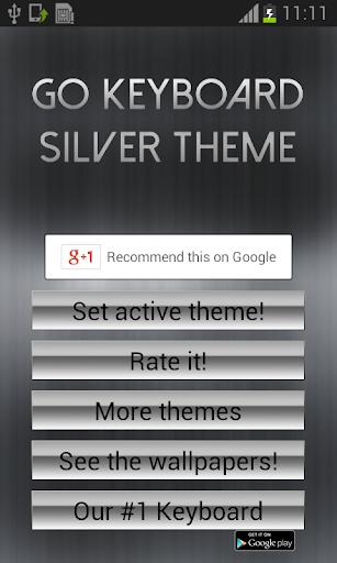 GO Keyboard Silver Theme