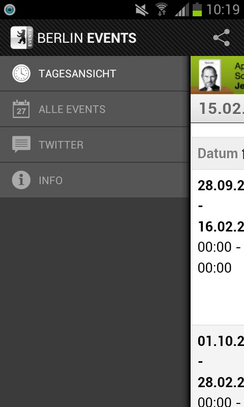 BERLIN EVENTS › Eventguide- screenshot