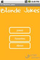 Screenshot of Blonde Jokes