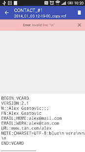 Contacts VCF - screenshot thumbnail