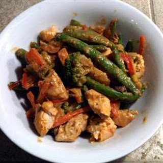 Spicy Honey-Mustard Chicken Stir-Fry.