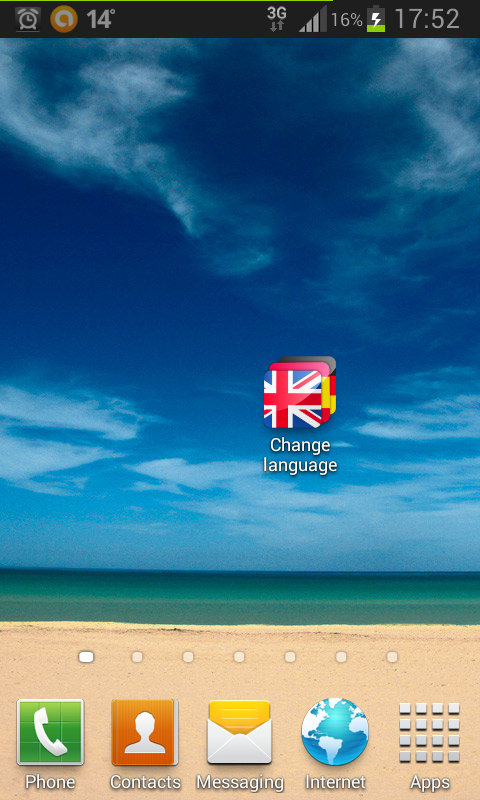 Change Language- screenshot