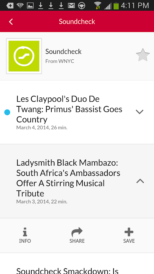 WNYC - screenshot