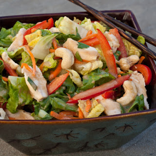 Chinese Chicken Salad with Sesame Ginger Dressing.