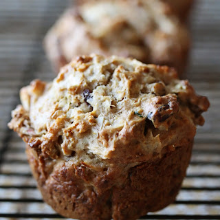 Apple, Cranberry and Walnut Muffins.