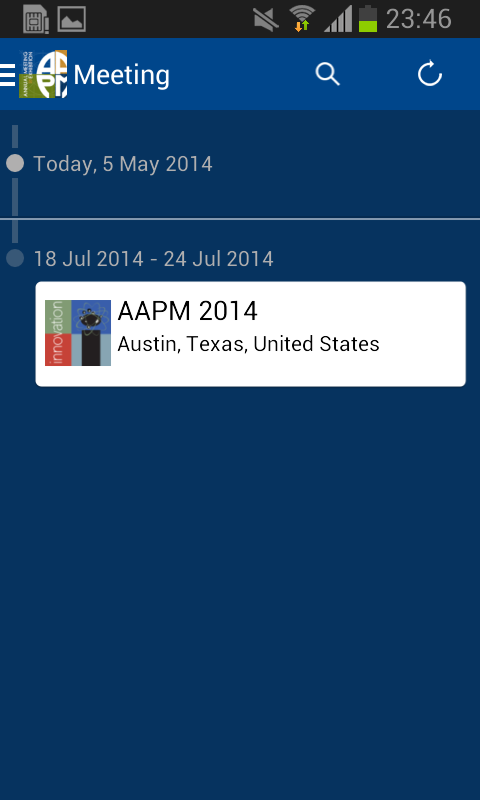 AAPM Annual Meeting - screenshot