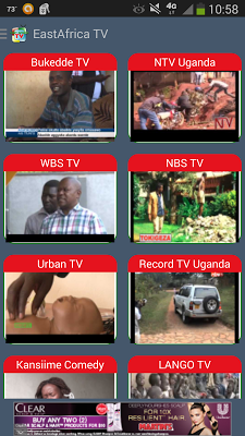 East Africa TV stations - screenshot