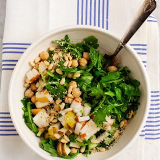 Pear & Arugula Chickpea Salad
