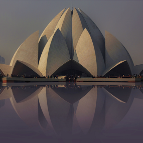 Lotus temple by Amrita Bhattacharyya - Buildings & Architecture Places of Worship (  )