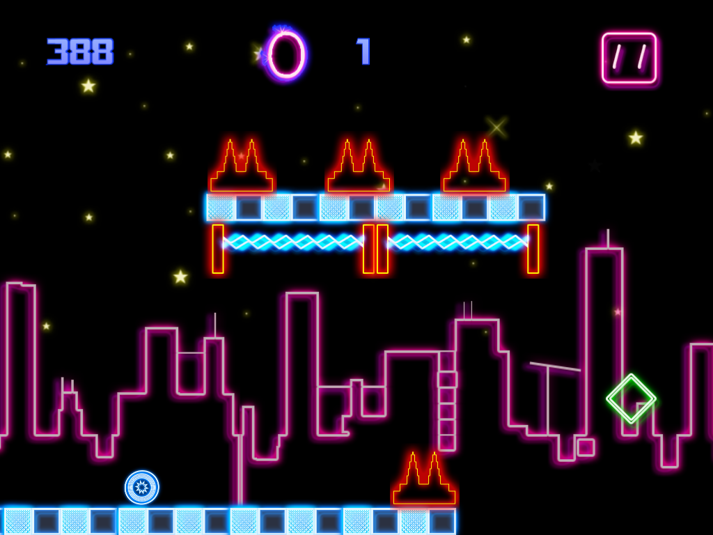 A Neon Bouncing Ball 2- screenshot