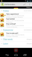 Screenshot of Life Reminders