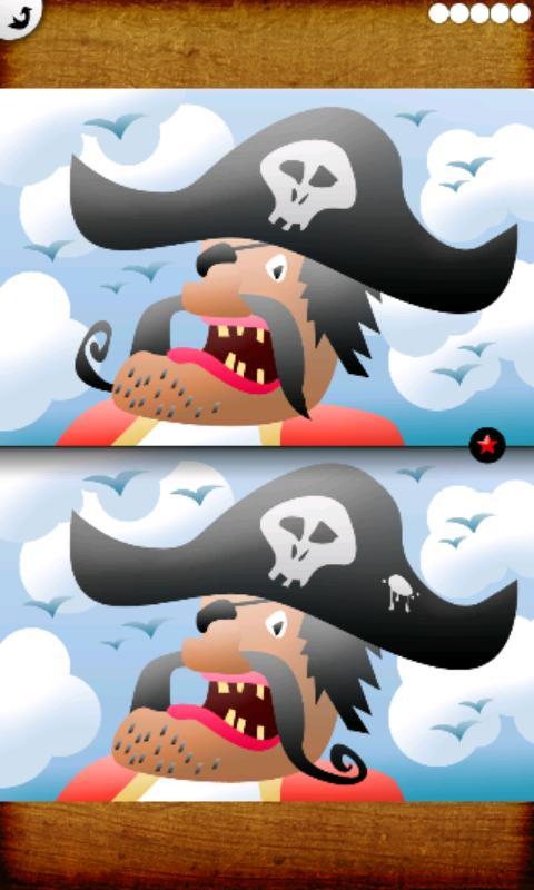 Jeu de différences : pirates– Capture d'écran
