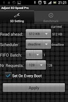 Screenshot of Adjust SD Speed