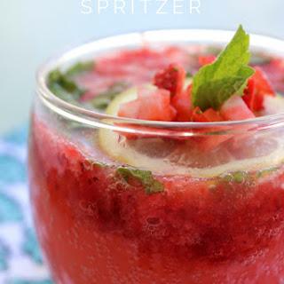 Strawberry Mint Spritzer.