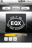 Screenshot of 102.7 WEQX