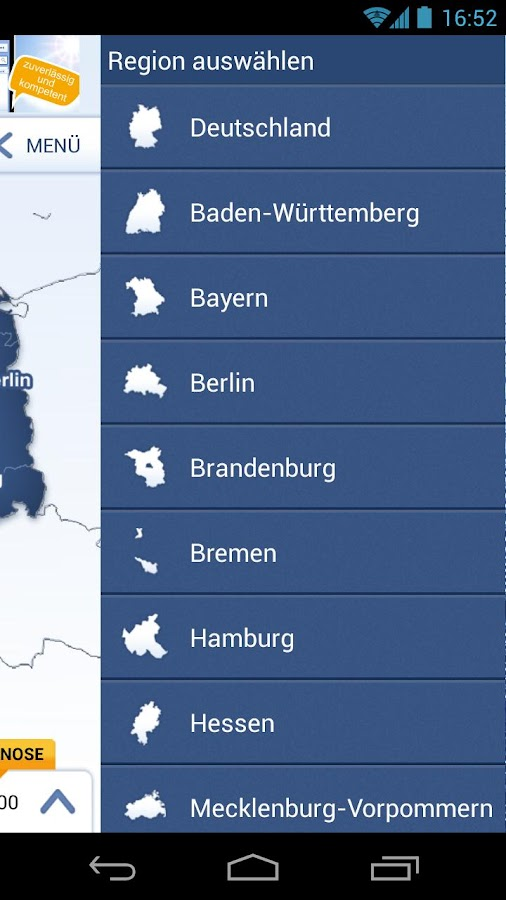 wetter.com Rainradar - screenshot