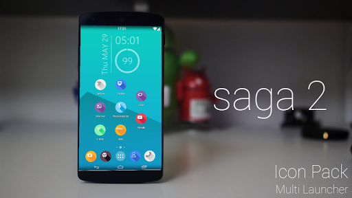 saga 2 icon pack theme nova