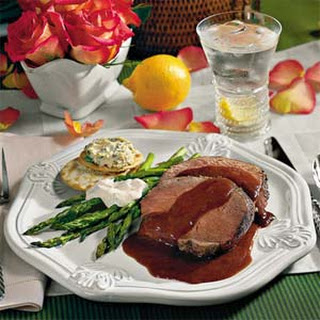 Beef Tenderloin With Henry Bain Sauce.