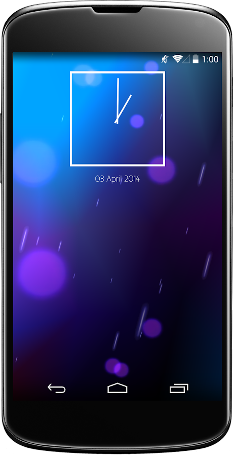 Jelly Clock Widget - screenshot