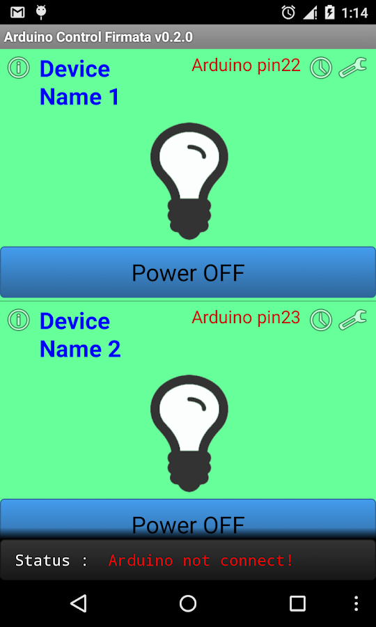 Arduino USB Smart home Control- screenshot