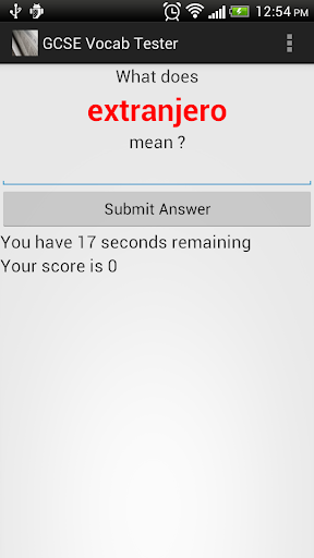 GCSE Vocab Tester