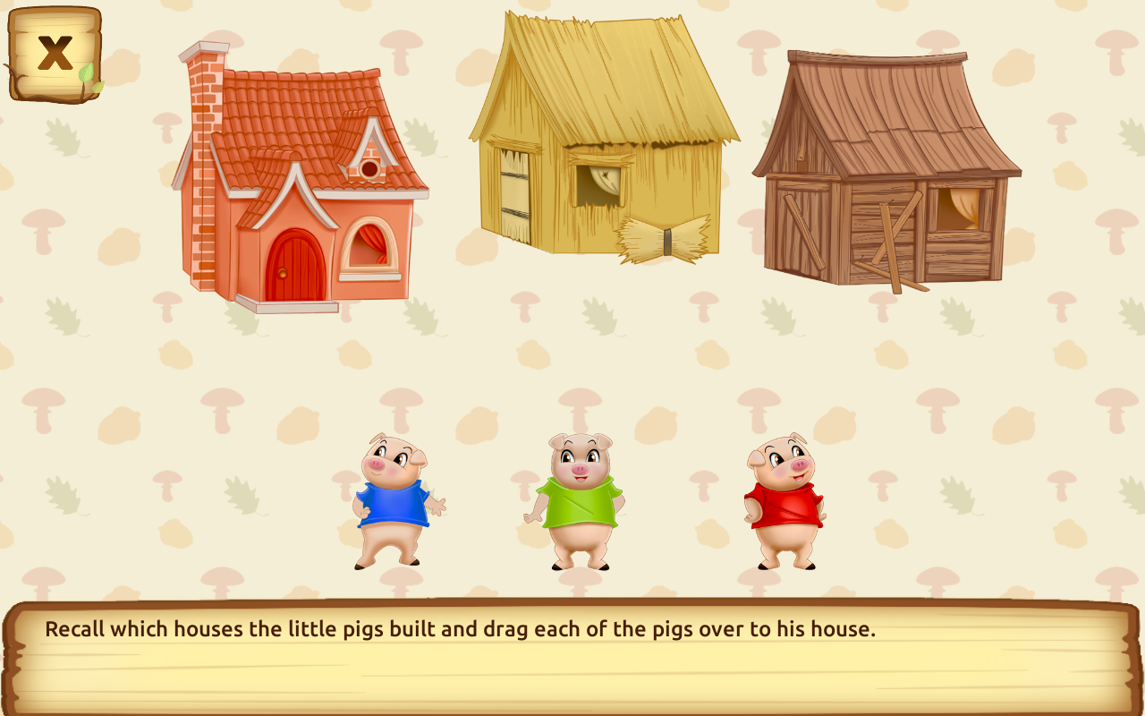three little pigs fairy tale with games free android apps on